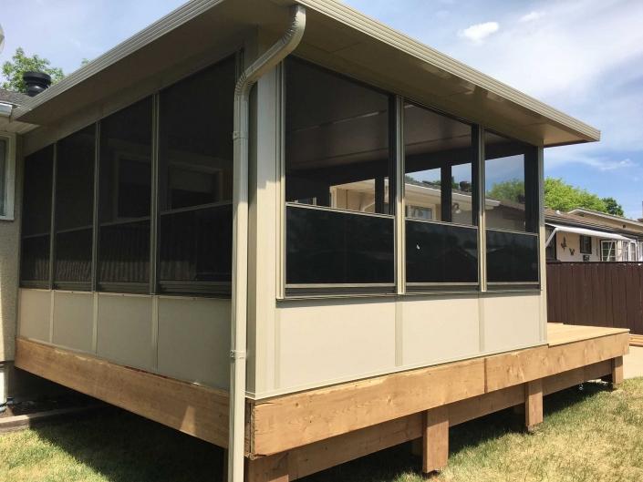 Sunspace Sunroom built on a deck