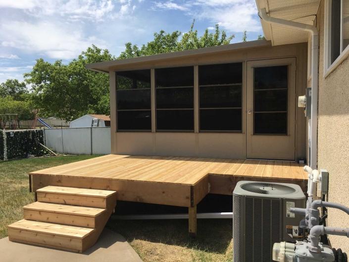 Sunspace Sunroom built on a deck in Regina