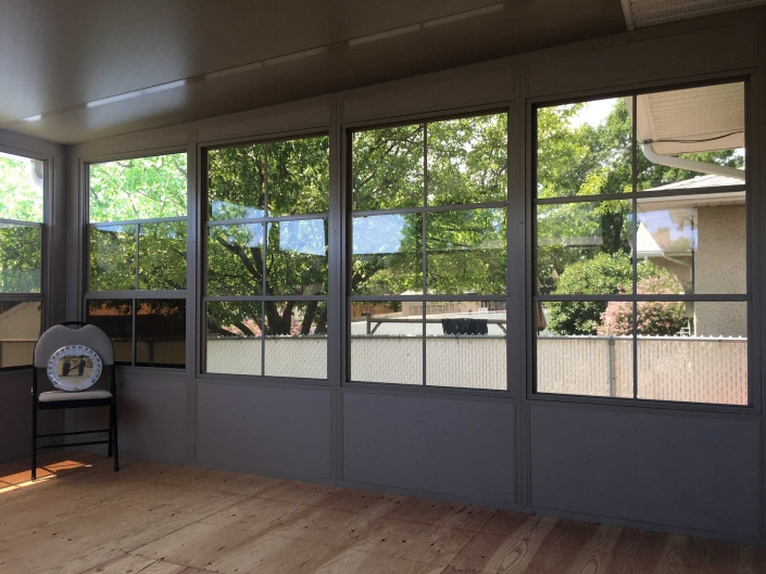 a sunspace sunroom from the inside