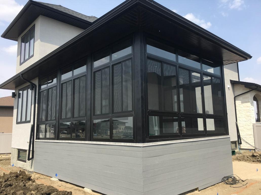 brand new sunspace sunroom in Regina-2019 project