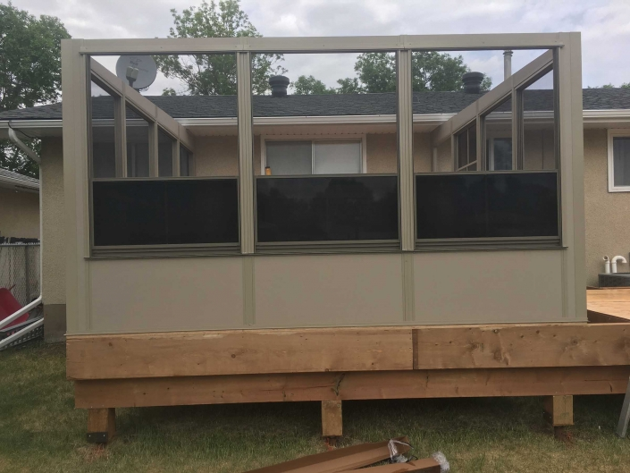 building a sunspace sunroom on a deck-2018 project