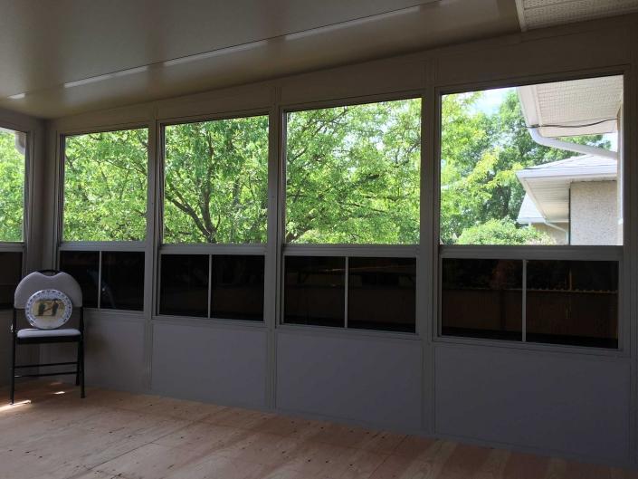 inside a finished sunspace sunroom