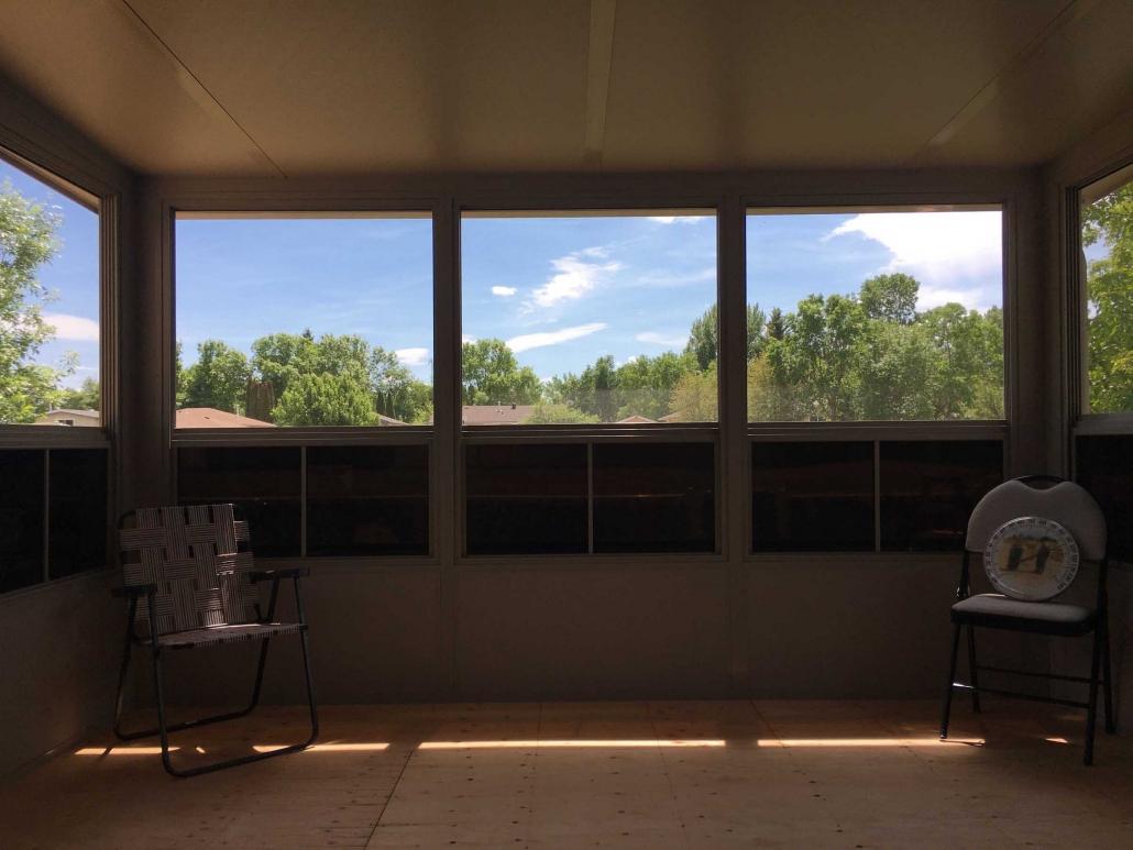 inside a sunspace sunroom finished