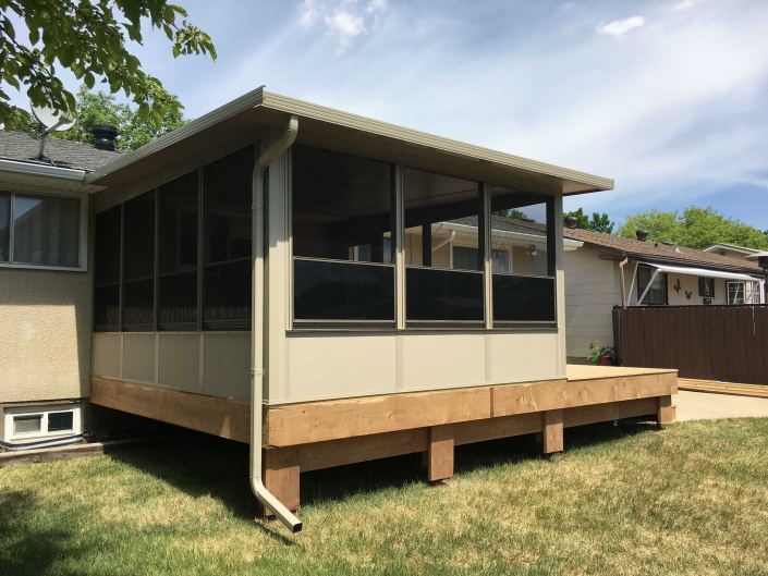 sunspace sunrooms built on a deck-backyard renovations in regina