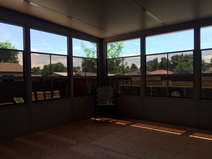the inside of your brand new sunroom