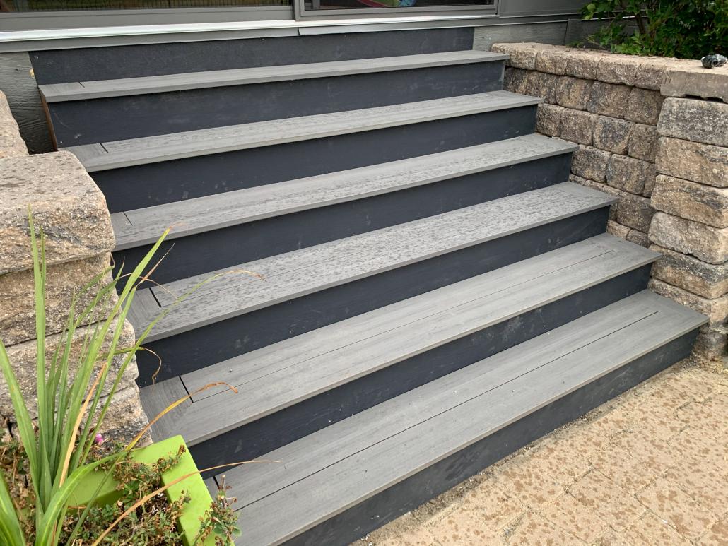 Custom stairs on unroom