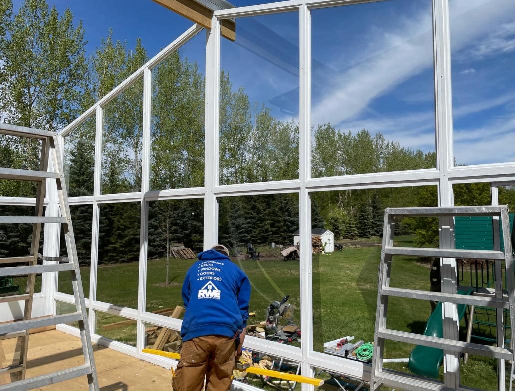 building sunroom